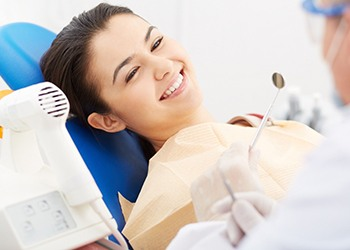 Patient and dentist preparing for advanced dental implant procedures in Crown Point, IN